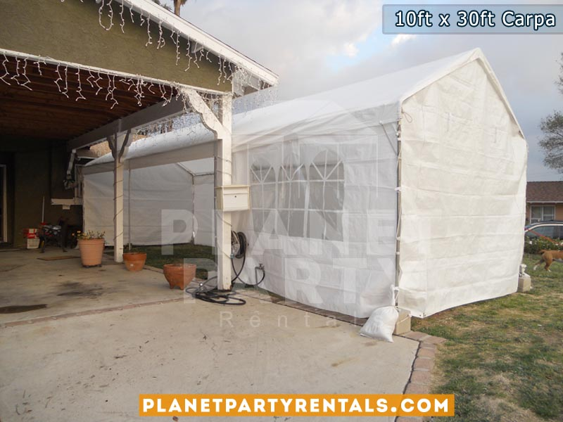 10x30 carpa con paredes | Carpa color Blanco | Rentas para fiestas