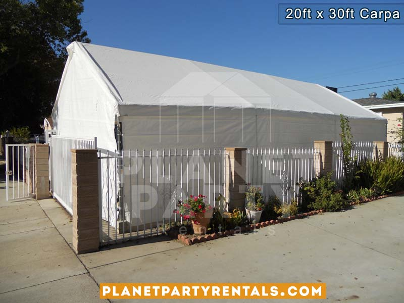 20ft x 30ft Carpa blanca con paredes para renta | Fotos y Precios | Van Nuys Panorama City Reseda Arleta North Hollywood