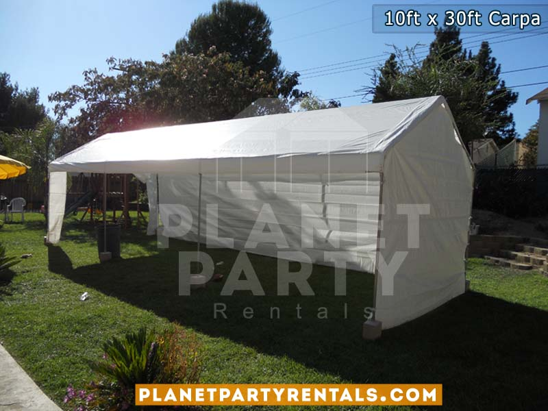 10 x 30 carpa blanca con paredes blancas | Renta de carpas en van nuys panorama city reseda north hollywood sun valley