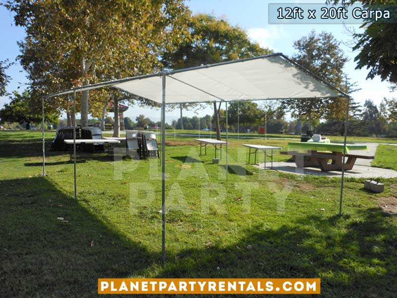 12x20 Carpa (no paredes) para rentar | sillas mesas | manteles | Jumper | San Fernando Valley