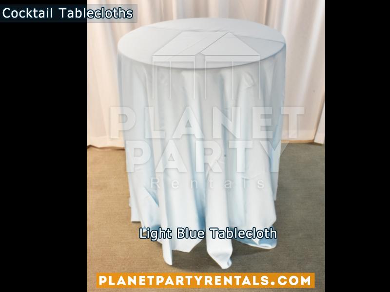 Mantel Redondo para Mesa de Cocktail Color Azul Bajo