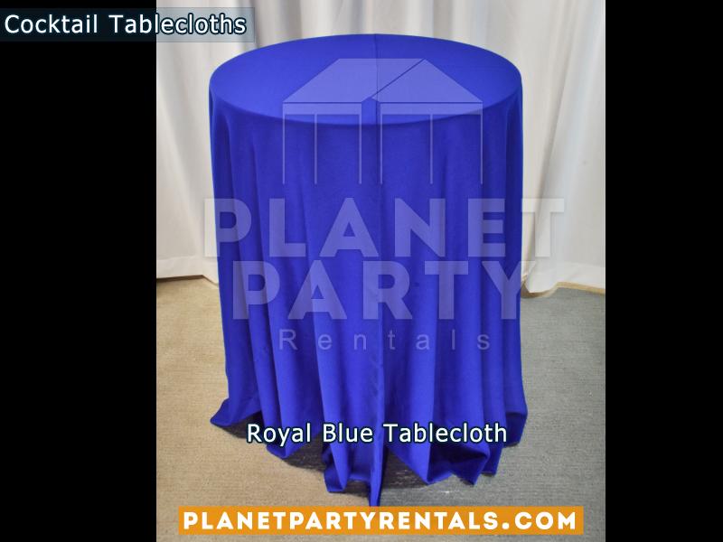 Mantel Redondo para Mesa de Cocktail Color Azul