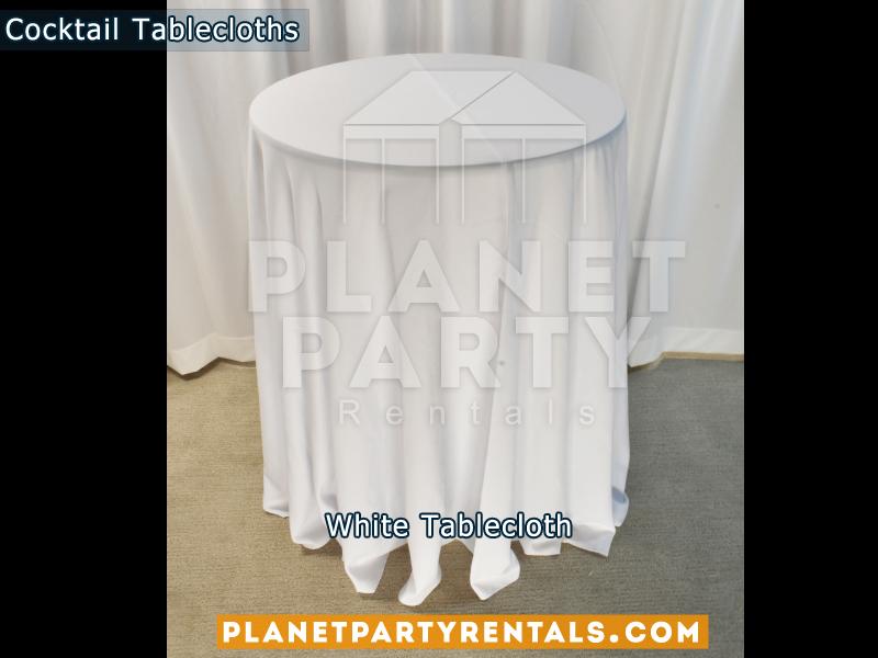Mantel Redondo para Mesa de Cocktail Color Blanco