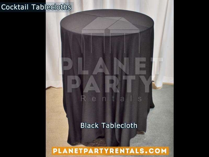 Mantel Redondo para Mesa de Cocktail Color Negro