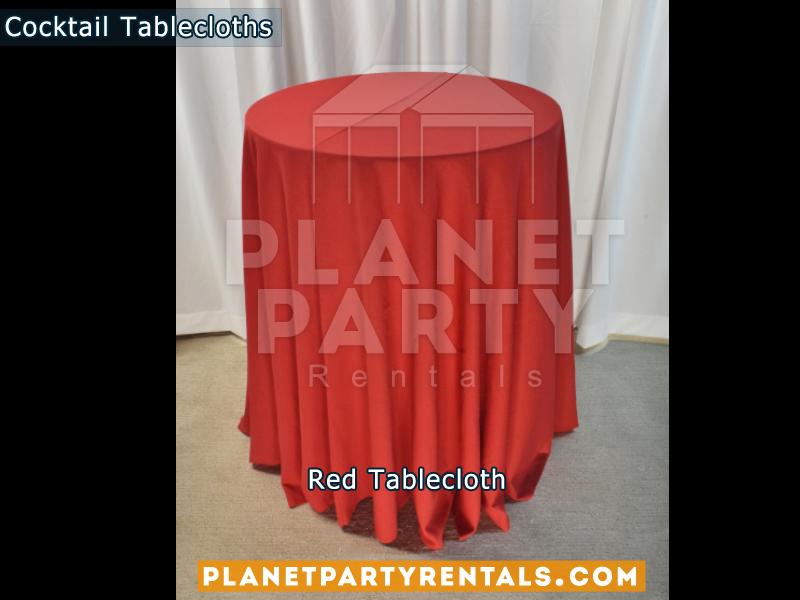 Mantel Redondo para Mesa de Cocktail Color Rojo