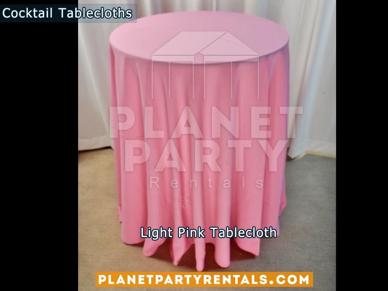 Mantel Redondo para Mesa de Cocktail Color Rosa / Rosado