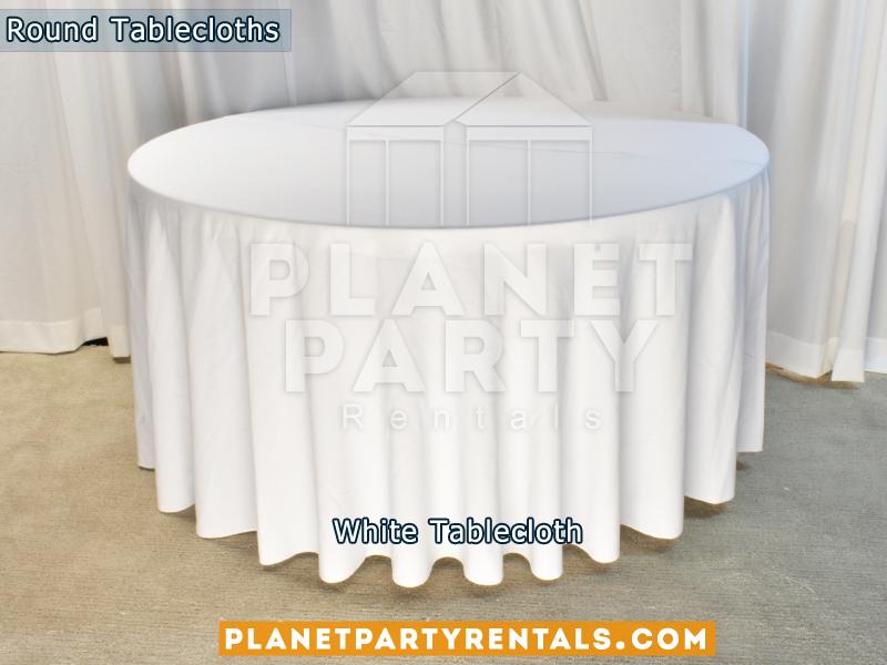 Mantel Redondo Color Blanco