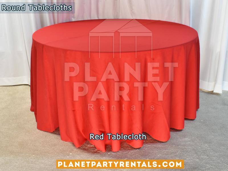 Mantel Redondo Color Rojo