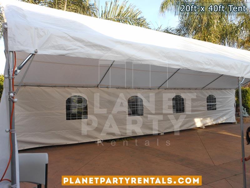 Carpa 20x40 con paredes con ventanas para fiestas