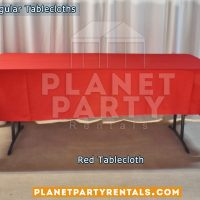 Mantel Rectangular Color Rojo