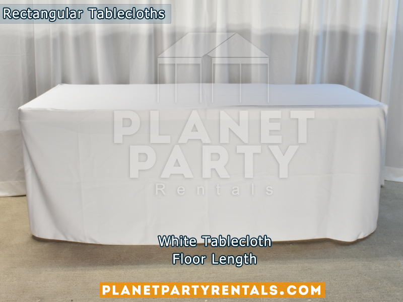 Mantel Rectangular Largo Color Blanco