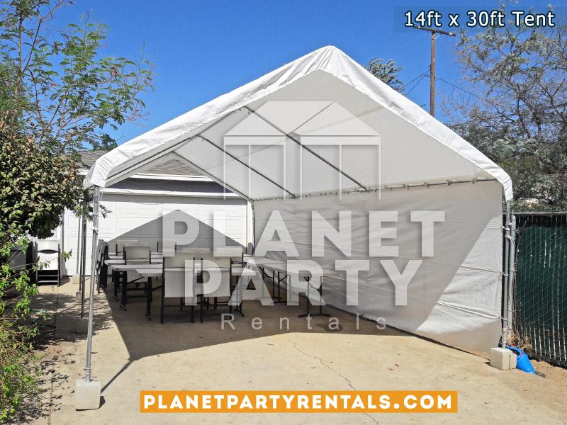 Renta de Carpa blanca 14x30 de grande para eventos y fiestas